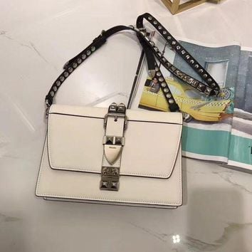 PEAPLM3 Prada latest rivet leather long shoulder strap shoulder bag