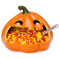 Halloween Large Mouth Pumpkin Candy Dish