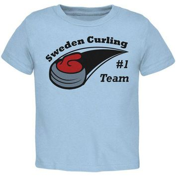 VONE05Y Winter Games Curling Team Sweden Toddler T Shirt