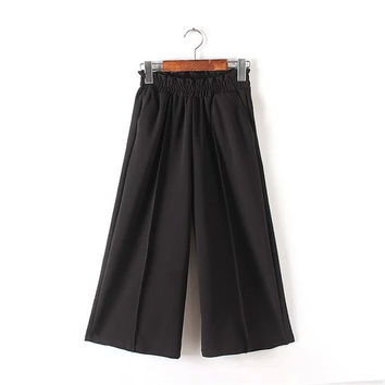 Women's Fashion Summer High Rise With Pocket Pants [4920286340]