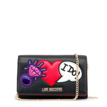 Love Moschino Black Synthetic Leather Wallet