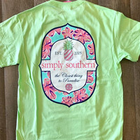 *Simply Southern Tee Lime Green Closest Thing to Paradise