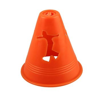 20 PCS Human-figure Hole Anti-Wind Slalom Cones Marker Roller Skating Marking Cups Windproof Skate Pile Cup Roller Skating Toast