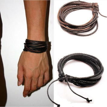 Deal Daisy Leather Rope Bracelet