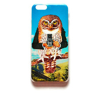 iPhone 6 Case Owl In Suit iPhone 6 Hard Case Owl With Camera Back Cover For iPhone Hipster 6 Slim Design Case Funny 6929