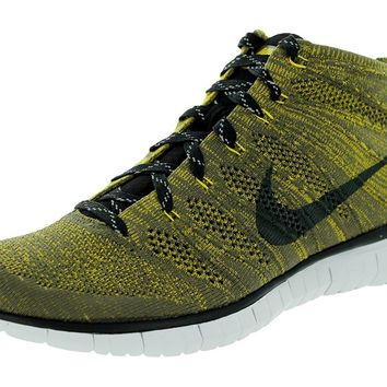 Nike Free Flyknit Chukka Tarp Green/Black/Swd/Gld Ld Running Shoe 13 Men US