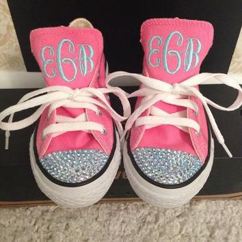Swarovski Crystals and Monogrammed Converse