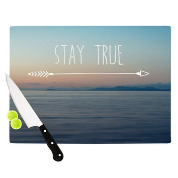 "Ann Barnes ""Stay True"" Coastal Typography Cutting Board"