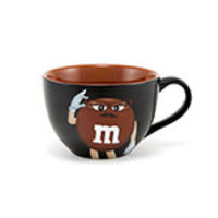 M&M's World Brown Character Cappuccino Mug New