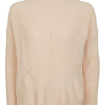 Travelling Ribbed Boxy Jumper | Topshop