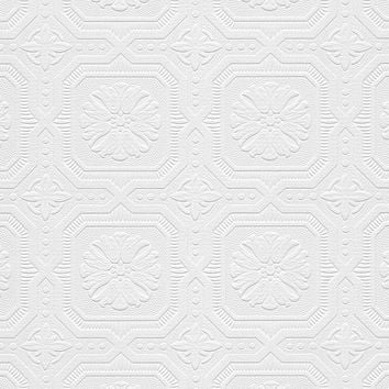 Norwall Tin Tiles Paintable Wallpaper-48928 - The Home Depot