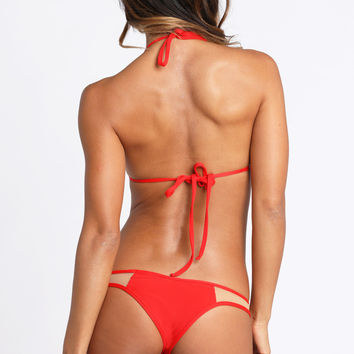 *ISHINE365 EXCLUSIVE* 2015 Kai Lani Swimwear Mesh Bottom in Red
