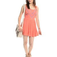 Salmon Lets go Shopping Sleeveless Dress | $10 | Cheap Trendy Casual Dresses Chic Discount Fashion