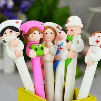 5pcs/lot Novelty Medical Staff Ballpoint Pen , Doctor and Nurse ball pen as School & Office Writing Supplies