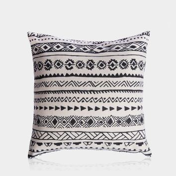 "Ethnic Allusion Pillow Cover 18"" x 18"""
