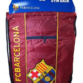 Fc Barcelona Cinch Bag Sack  Soccer Book  Backpack Authentic Official Maroon