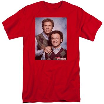 Step Brothers Tall T-Shirt Portrait Red Tee