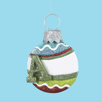 3 Christmas Ornaments - Monogrammed A
