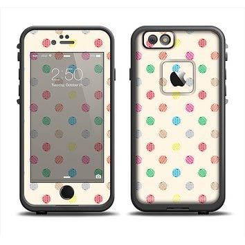 The Tan & Colored Laced Polka dots Apple iPhone 6 LifeProof Fre Case Skin Set