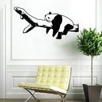 Panda Bear Funny Animal Wall Vinyl Decals Sticker Home Interior Decor for Any Room Housewares Mural Design Graphic Bedroom Wall Decal (5341)