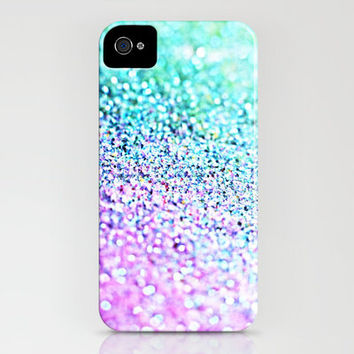 """Little Mermaid"" Pastel Ombre Glitter iPhone Case"