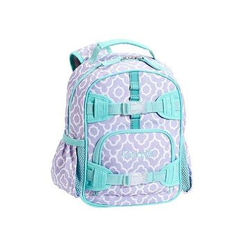 Mackenzie Lavender Moroccan Geo Backpacks | Pottery Barn Kids