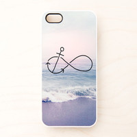 Infinity Anchor iPhone 5 4 4S Case iPhone 4 Case Refuse to Sink Blue Ocean Beach