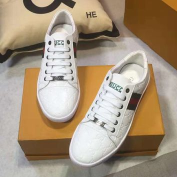 GUCCI 2018 new wild men's low-top casual sports shoes