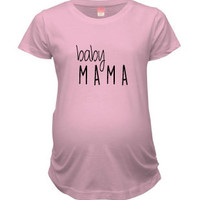 NattieDuds Maternity Clothing - Baby Mama Crew Neck Maternity Top - Women's Maternity