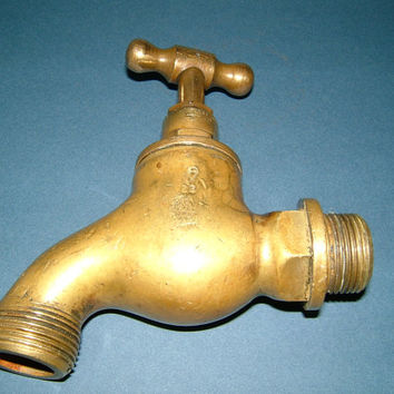 Victorian Solid Brass Water Tap by JC S WR No 22 BS 1010/2