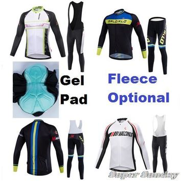 Men's Pro Team Cycling jerseys Winter Long Sleeve Sports Jersey High Quality Spring & Autumn Bike Racing Dress Bicycle Clothing