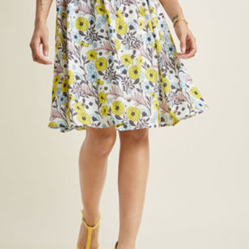 Miss Optimist Pleated A-Line Skirt