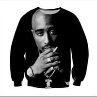 New Fashion Mens/Womens 2Pac Tupac Monochrome Biggie gangster Rap Funny 3D Print Casual Sweatshirt XMB002