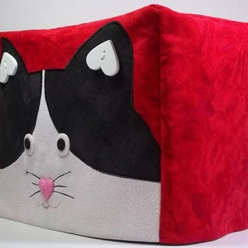 SALE Toaster Cover Tuxedo Cat - Marked down by 20%