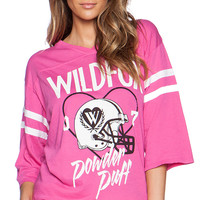 Wildfox Couture Powder Puff Graphic Tee in Pink