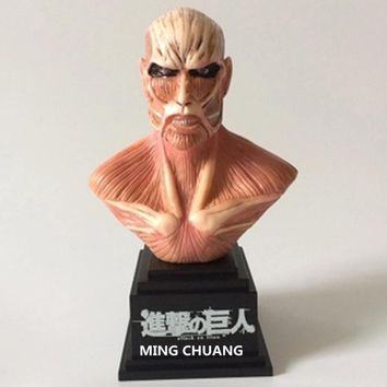 Cool Attack on Titan Statue  18CM Half-Length Photo Or Portrait Giant Bust PVC  Action Figure Collectible Model Toy D307 AT_90_11