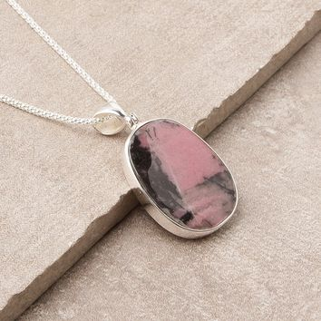 Rhodonite Pendant Necklace