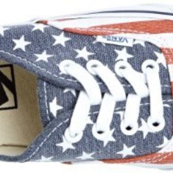 Vans Unisex Authentic (Van Doren) Stars and Stripes Skate Shoe 11 Men US