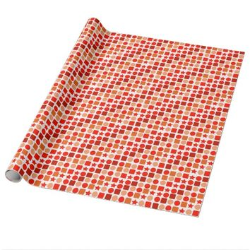 Wrapping Paper with Orange-flavored Geometrics