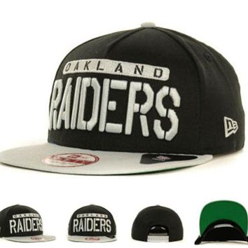 CUPCUP0 Oakland Raiders Nfl Cap Snapback Hat - Ready Stock