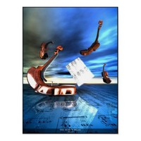 THE  MUSIC'S  RELAX POSTER from Zazzle.com