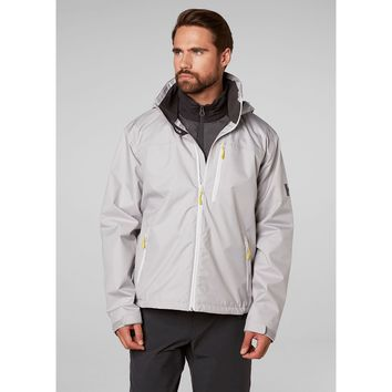 Helly Hansen Men's CREW HOODED JACKET in Limited Ed Silver