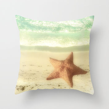 VINTAGE STARFISH Throw Pillow by Studio70