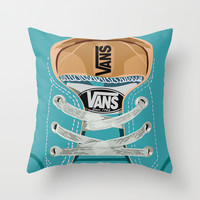 Cute blue teal Vans all star baby shoes iPhone 4 4s 5 5s 5c, ipod, ipad, pillow case and tshirt Throw Pillow by Three Second