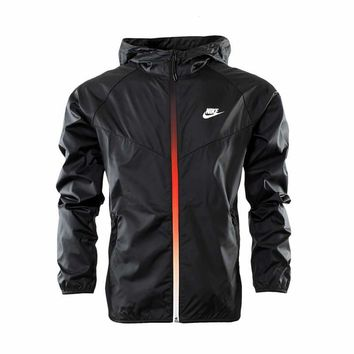 "Fashion ""NIKE"" Hooded Zipper Cardigan Sweatshirt Jacket Coat Windbreaker Sportswear [11023175751]"