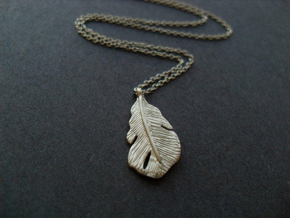 The Last Leaf -silver leaf necklace -for simple, natural look