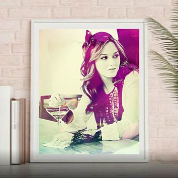Blair Waldorf Gossip Girl Wall Art  | Lisa Jaye Art Designs