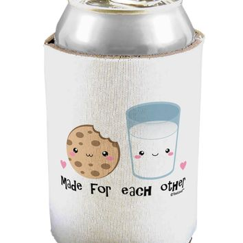 Cute Milk and Cookie - Made for Each Other Can / Bottle Insulator Coolers by TooLoud