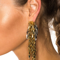 Loewe Chain Earring in Gold & Palladium | FWRD