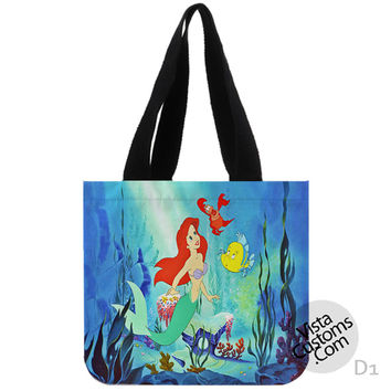Princess Ariel Litte Mermaid DisneyNew Hot, handmade bag, canvas bag, tote bag